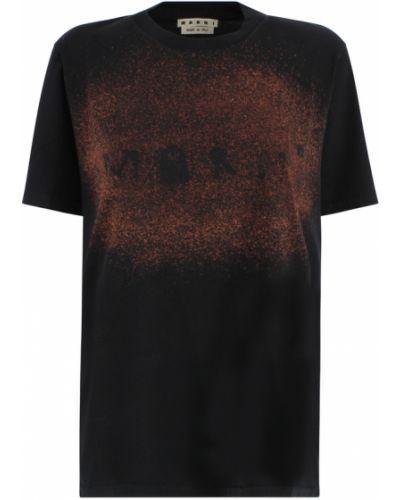 Czarna t-shirt Marni