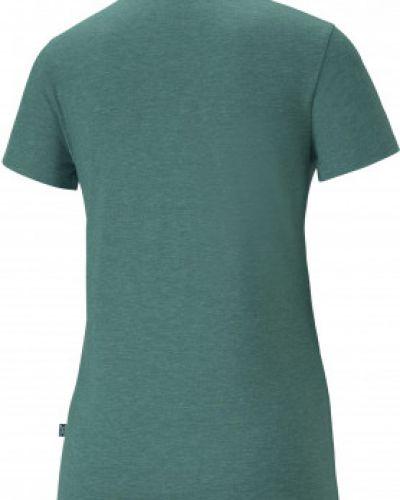 Хлопковая зеленая футболка с короткими рукавами Puma