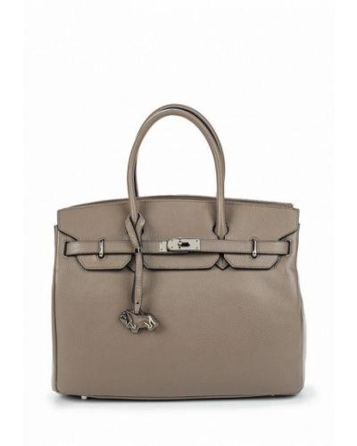 Серая кожаный сумка Labbra