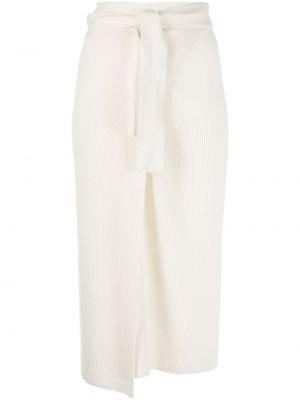 С завышенной талией прямая белая юбка миди Cashmere In Love