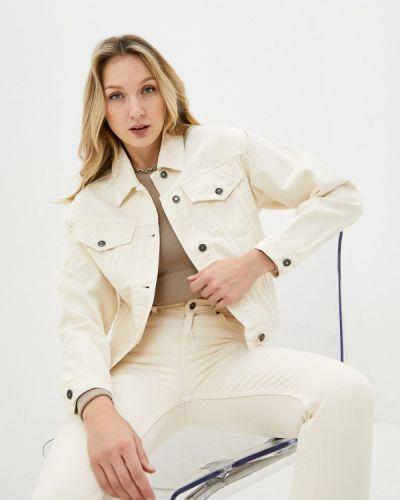 Бежевая джинсовая куртка снежная королева