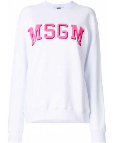 Белая толстовка Msgm