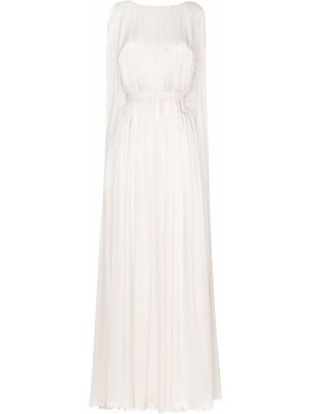 Вечернее платье с драпировкой с вырезом Roksanda