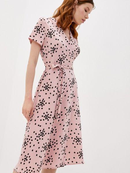 Розовое платье с запахом Imocean