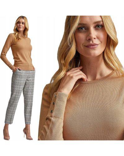 Sweter zapinane na guziki - brązowy Dorothy Perkins
