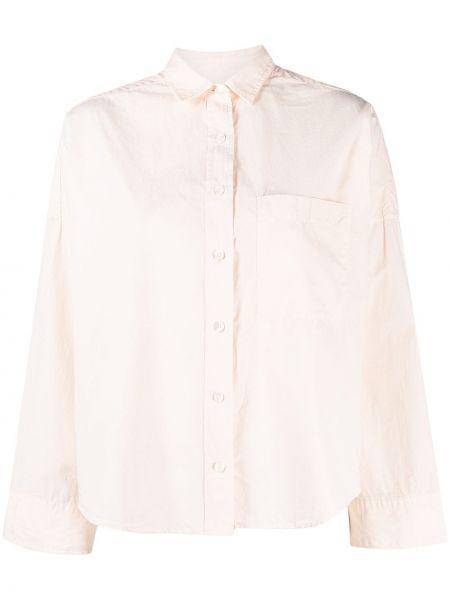 Розовая с рукавами классическая рубашка оверсайз Closed