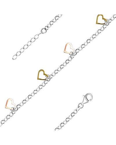 Золотой браслет с подвесками позолоченный серебро россии