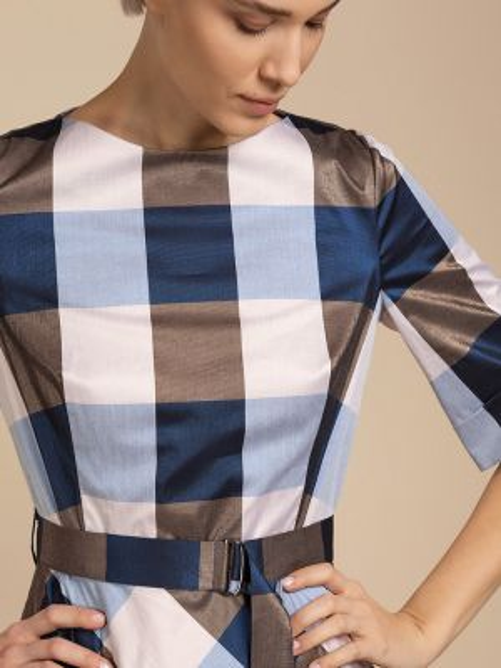 Платье миди классическое с поясом Vassa&co