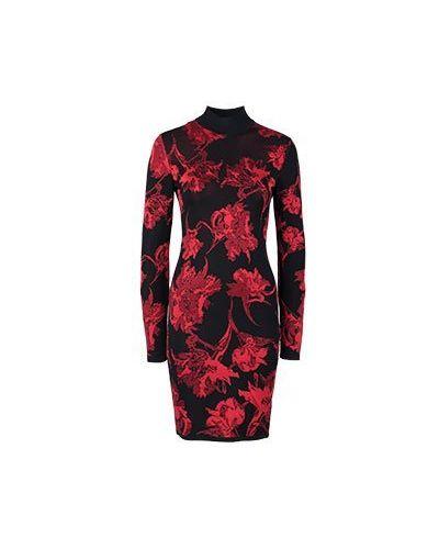 Платье из вискозы - красное Roberto Cavalli