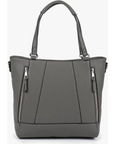 Кожаный сумка с ручками серая Dorothy Perkins
