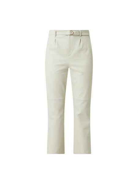 Białe spodnie skorzane Goosecraft