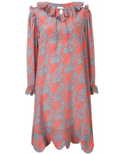 Платье с цветочным принтом на шнуровке Horror Vacui