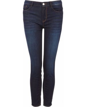 Синие зауженные джинсы-скинни с пайетками Tom Tailor