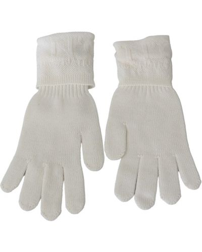Rękawiczki wełniane - białe Costume National