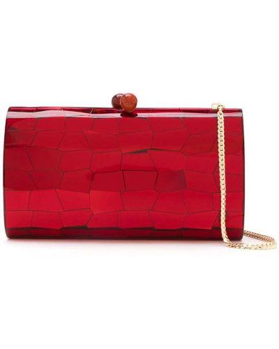 Красная сумка металлическая Serpui