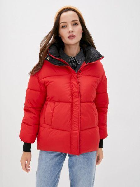 Теплая красная куртка Grand Style