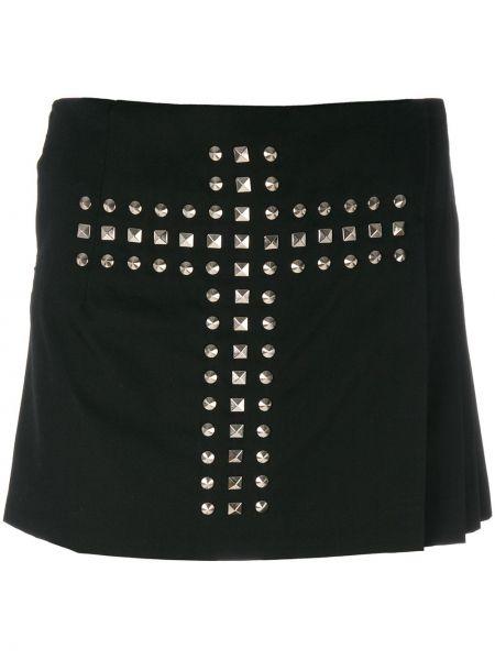 Прямые черные кожаные шорты Comme Des Garçons Pre-owned