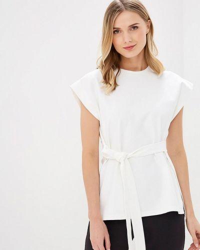 Блузка с коротким рукавом белая весенний Adolfo Dominguez