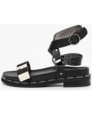 Кожаные черные сандалии Graciana