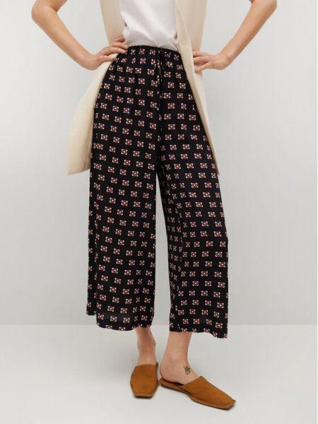 Czarne spodnie oversize Mango