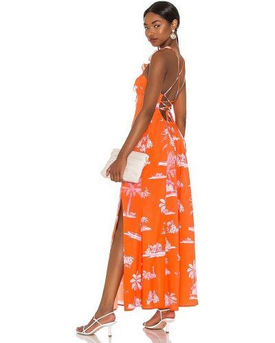 Кружевное платье - оранжевое Agua Bendita