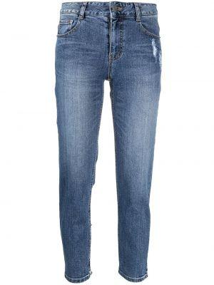 Облегающие зауженные джинсы - синие Sjyp