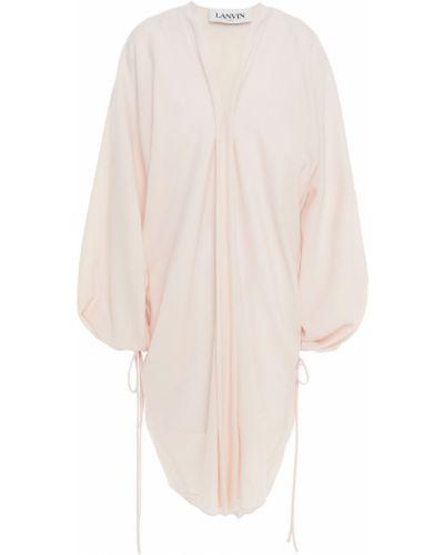 Шерстяное платье - розовое Lanvin