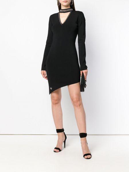 Платье мини макси с V-образным вырезом Philipp Plein