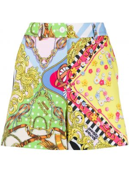Однобортные короткие шорты с карманами Boutique Moschino