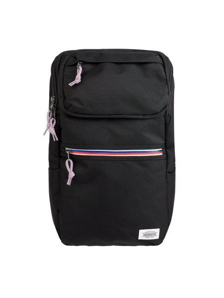 Czarny plecak na laptopa w paski American Tourister