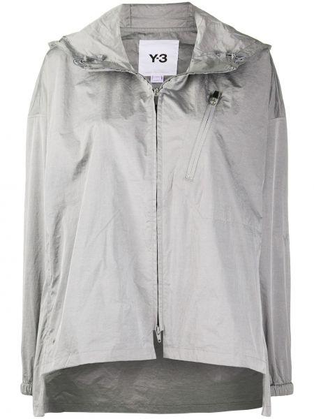 Серая спортивная куртка с капюшоном на молнии Y-3