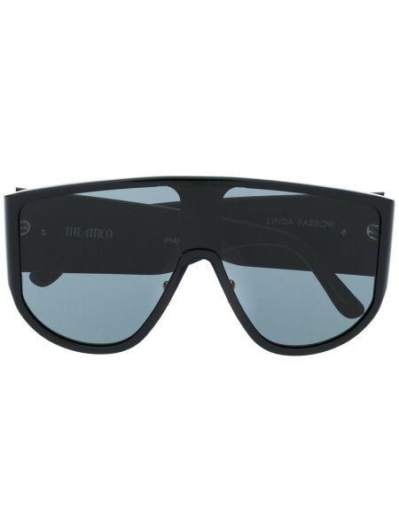 Czarne okulary oversize Attico