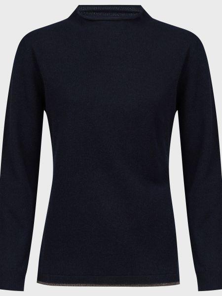 Синий кашемировый свитер с бисером Fabiana Filippi
