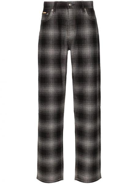 Czarne spodnie z wysokim stanem wełniane Eytys
