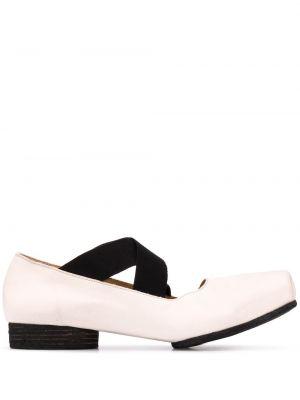 Кожаные белые туфли на каблуке Uma Wang