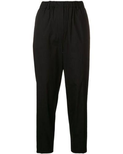 Укороченные брюки черные Antonelli