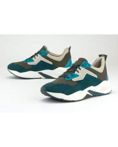 Buty sportowe skorzane - zielone Timberland