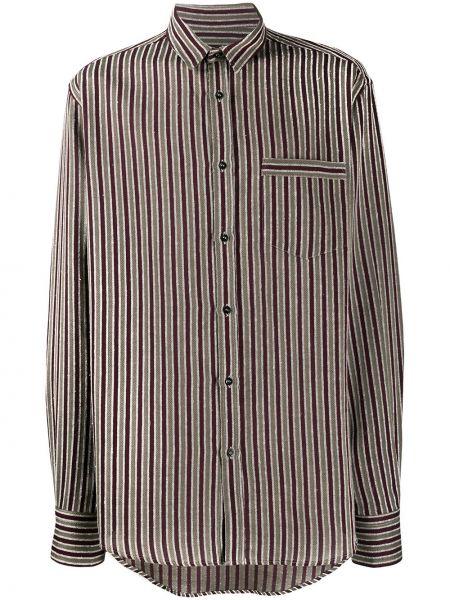 Klasyczna klasyczna koszula w paski z długimi rękawami Christian Pellizzari