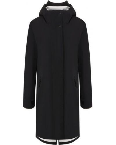 Пальто с капюшоном черное Canada Goose