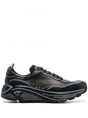 Кожаные кроссовки - черные Officine Creative