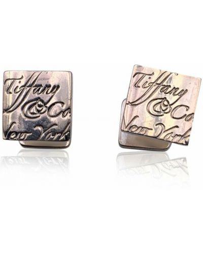 Spinki do mankietów srebrne - szare Tiffany & Co. Pre-owned
