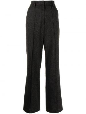 Шерстяные брюки - серые Goen.j