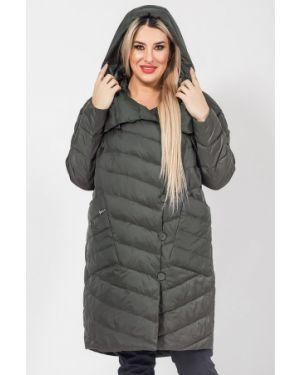 Пальто с капюшоном на синтепоне стеганое Luxury