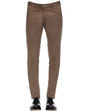 Beżowe spodnie bawełniane Sartoria Latorre