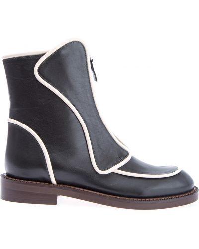 Кожаные ботинки на молнии на каблуке Marni