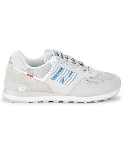 Замшевые кроссовки на шнурках винтажные New Balance