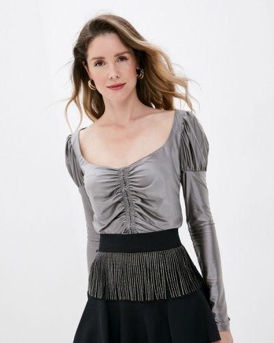 Серая блузка с длинным рукавом с длинными рукавами Imperial