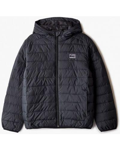 Теплая черная куртка Quiksilver