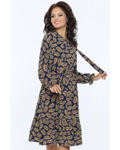 Шифоновое платье с поясом с бантом Dstrend