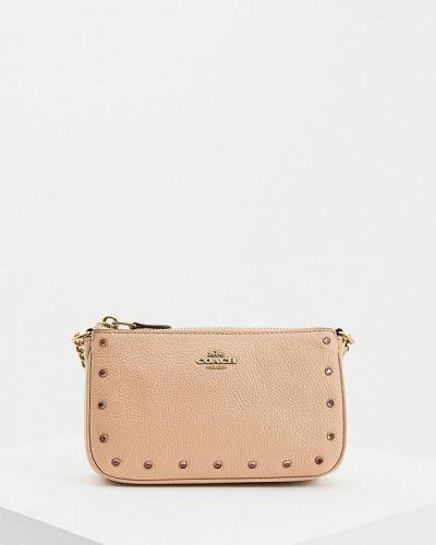 Кожаный сумка с ручками Coach